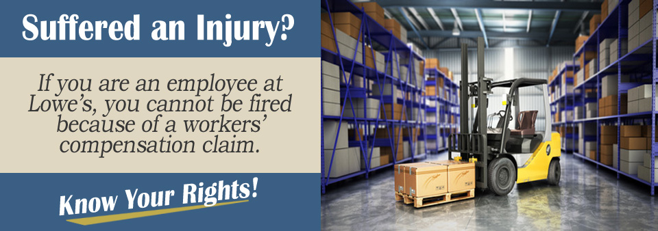 Will I Be Fired If I Was Injured at Lowe's*?